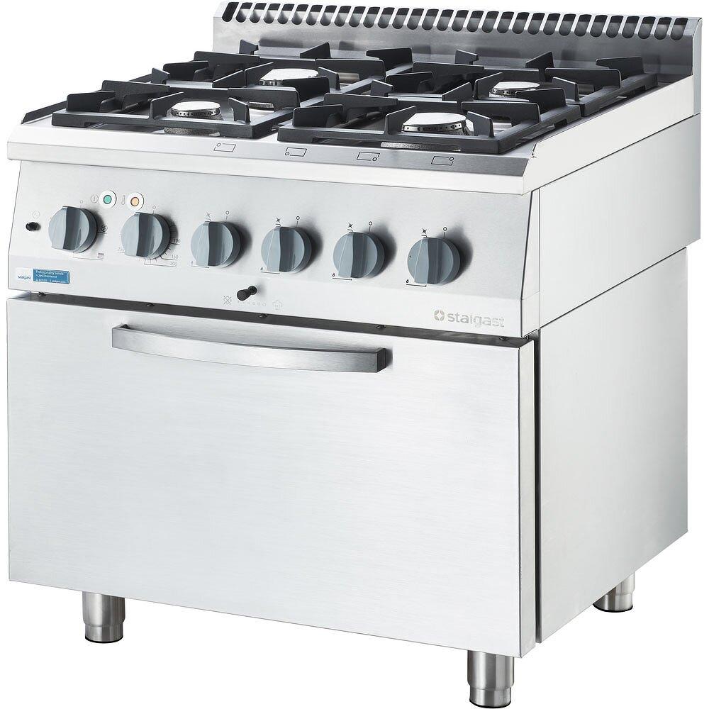 Kuchnia Gazowa Eco Z Piekarnikiem Elektrycznym 4 Palnikowa P 14 6 5 Kw U G20 Wyposazenie Gastronomii Meble Ze Stali Nierdzewnej
